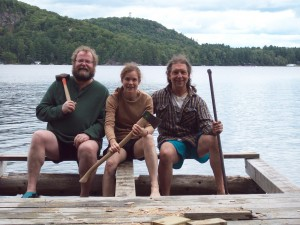 Mike, Jackie and Bill fixing a dock in 2011