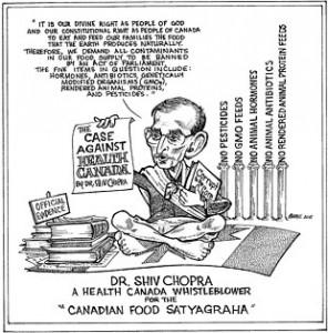 Dr. Shiv Chopra cartoon